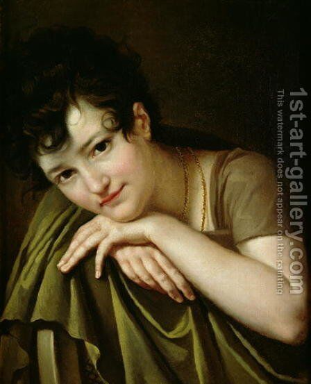 Portrait of a Woman by Henry Thomas Schafer - Reproduction Oil Painting