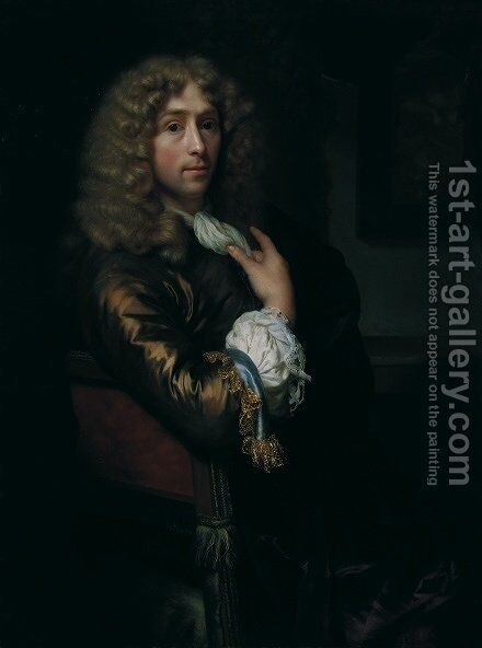 Self Portrait 1679 2 by Godfried Schalcken - Reproduction Oil Painting