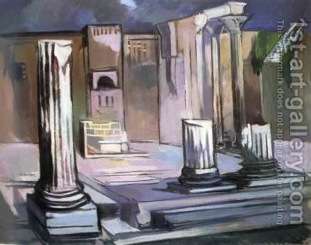 Forum Romanum by Attila Sassy - Reproduction Oil Painting