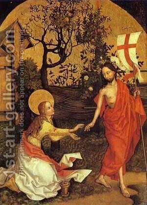 Noli Me Tangere Detail by Martin Schongauer - Reproduction Oil Painting