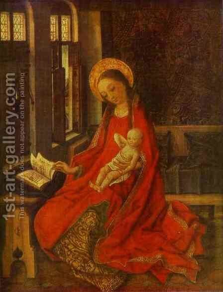 The Virgin With Infant by Martin Schongauer - Reproduction Oil Painting
