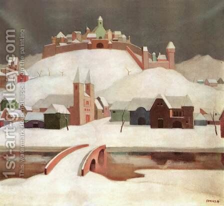 Imaginary Landscape after 1913 by De Lorme and Ludolf De Jongh Anthonie - Reproduction Oil Painting