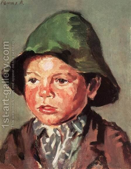 Portrait of a Boy after 1900 by De Lorme and Ludolf De Jongh Anthonie - Reproduction Oil Painting
