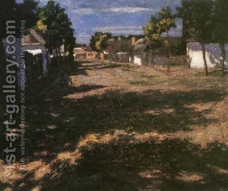 Silent Street 1899 by De Lorme and Ludolf De Jongh Anthonie - Reproduction Oil Painting