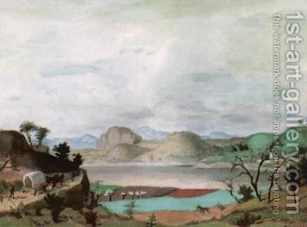 Spring Landscape in the Uplands 1937 by De Lorme and Ludolf De Jongh Anthonie - Reproduction Oil Painting