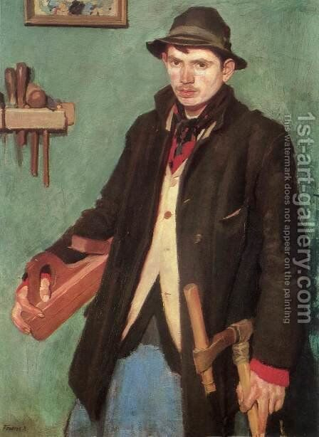 The Joiner 1905 by De Lorme and Ludolf De Jongh Anthonie - Reproduction Oil Painting