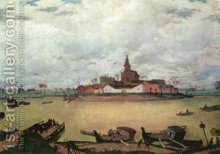 The River 1925 by De Lorme and Ludolf De Jongh Anthonie - Reproduction Oil Painting