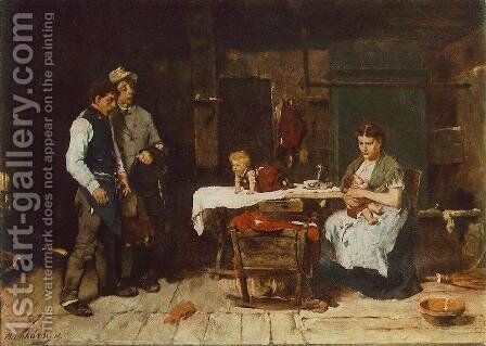 Biboulous Husband 1872 73 by Mihaly Munkacsy - Reproduction Oil Painting