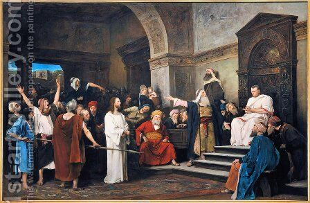 Christ before Pilate 1881 by Mihaly Munkacsy - Reproduction Oil Painting
