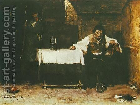 Condemned Cell (The Convict) 1869 72 by Mihaly Munkacsy - Reproduction Oil Painting