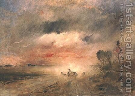 Dusty Country Road II 1883 by Mihaly Munkacsy - Reproduction Oil Painting
