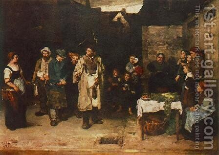 Tramps at Night 1872 73 by Mihaly Munkacsy - Reproduction Oil Painting