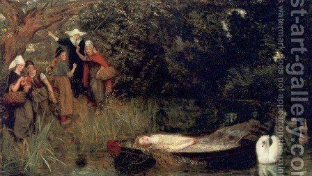 The Lady of Shalott 1872 1873 by Arthur Hughes - Reproduction Oil Painting
