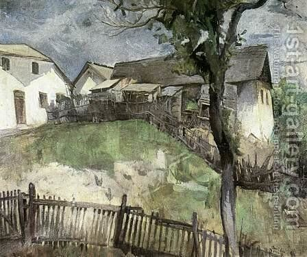 Road to the Hill Szamarhegy 1934 by Bela Kadar - Reproduction Oil Painting