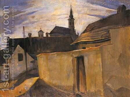 Street in the Outskirts of Szentendre 1934 by Bela Kadar - Reproduction Oil Painting