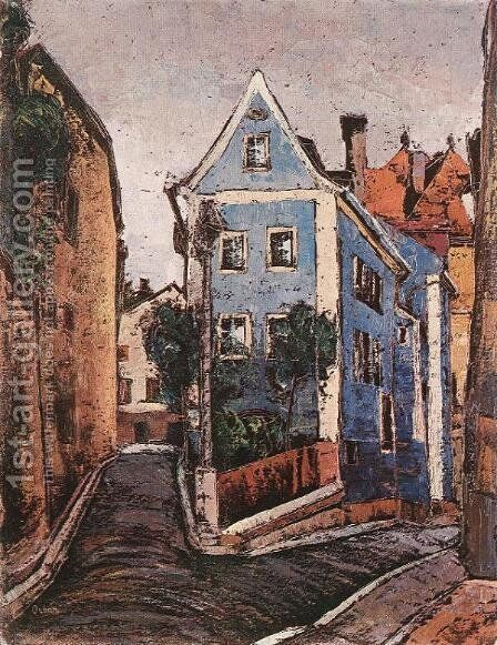 Street at Passau by Miksa Roth - Reproduction Oil Painting