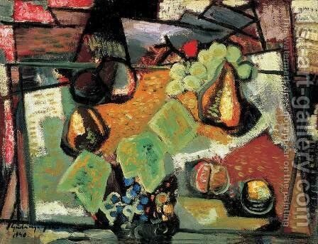 Fruit Still life 1940 by Janos Pirk - Reproduction Oil Painting