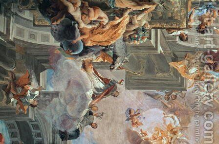 The Entry of St Ignatius into Paradise 1707 by Anton Huxoll - Reproduction Oil Painting