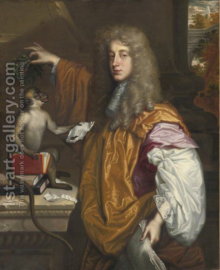 John Wilmot by Jacob Huysmans - Reproduction Oil Painting