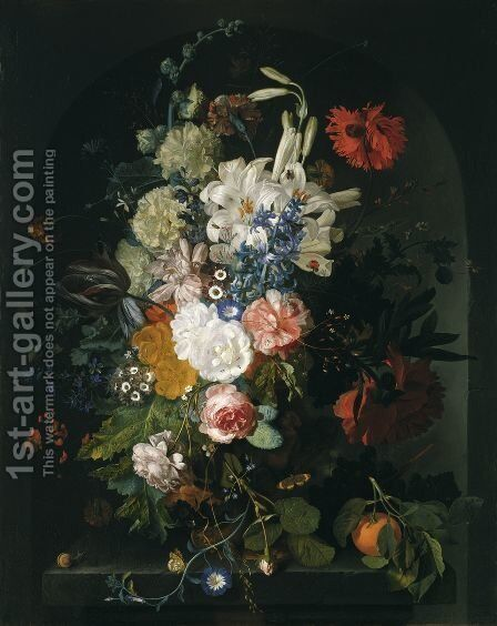 Bouquet of Flowers by Jan Van Huysum - Reproduction Oil Painting