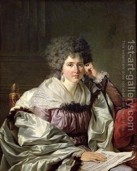Madame Nicaise Perrin nee Catherine Deleuze by Johann Erhard Gruber - Reproduction Oil Painting