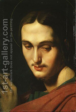 Head of Saint John the Evangelist 1818 by Jean Auguste Dominique Ingres - Reproduction Oil Painting