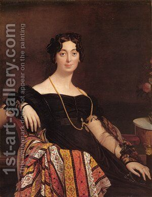 Madame Jacques Louis Leblanc by Jean Auguste Dominique Ingres - Reproduction Oil Painting