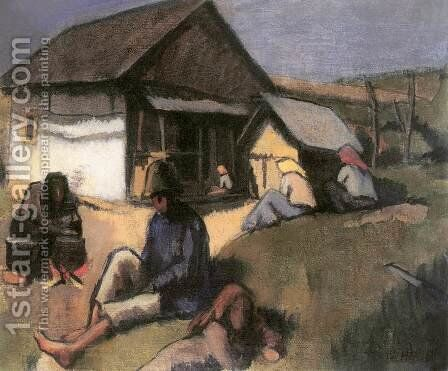 Gypsies 1907 by Bela Onodi - Reproduction Oil Painting