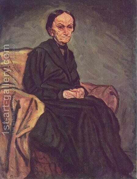 Portrait of my Mother 1918 by Bela Onodi - Reproduction Oil Painting