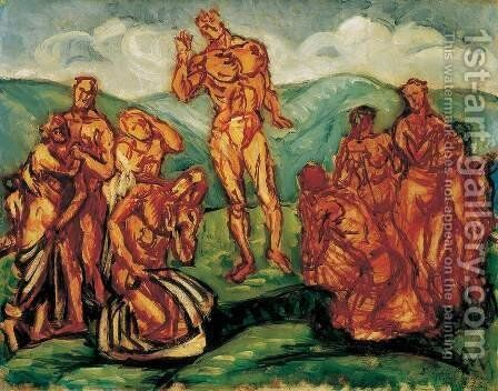 Sermon on the Mountain 1911 2 by Bela Onodi - Reproduction Oil Painting