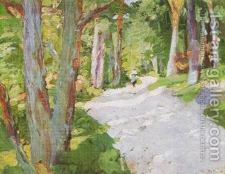 Walking Through the Forest 1905 by Bela Onodi - Reproduction Oil Painting