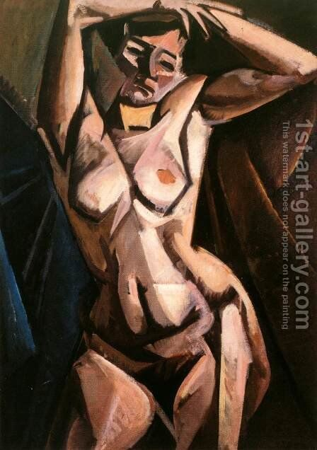 Lounging Nude 1912 by Alfred Rethel - Reproduction Oil Painting