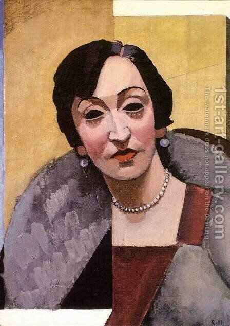 Woman with Necklace 1927 by Alfred Rethel - Reproduction Oil Painting