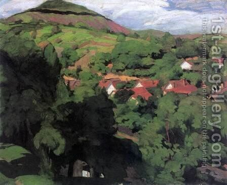 Landscape at Nagybanya 1900 by Istvan Boldizsar - Reproduction Oil Painting