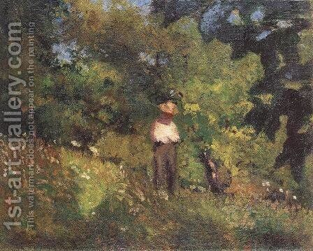 Landscape with Figure 1906 by Istvan Boldizsar - Reproduction Oil Painting