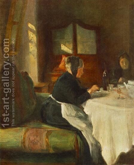 Old Woman 1900 by Istvan Boldizsar - Reproduction Oil Painting