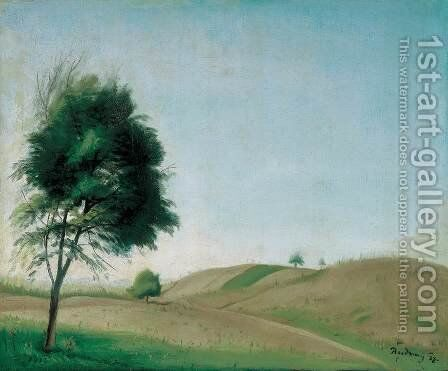 Hilly Landscape 2 by Gyorgy Roman - Reproduction Oil Painting