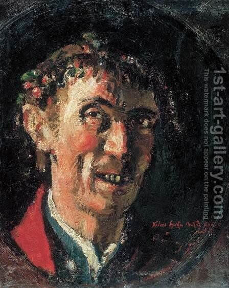 Self-portrait by Gyorgy Roman - Reproduction Oil Painting