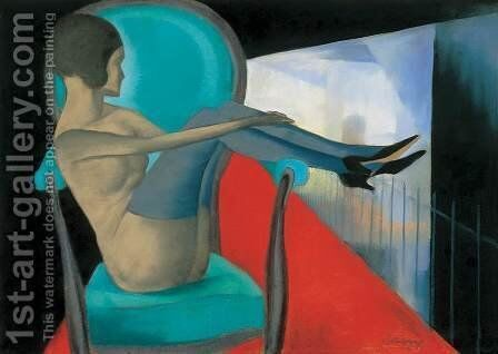 Woman in an Armchair 1920s by Arkhip Kuinji - Reproduction Oil Painting