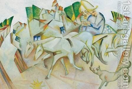 Selling the Horse 1927 by Aurel Bernath - Reproduction Oil Painting