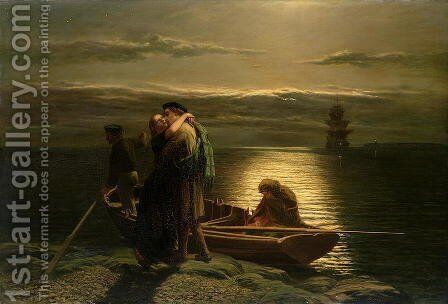 The Emigrant 1858 by Gyula Kardos - Reproduction Oil Painting