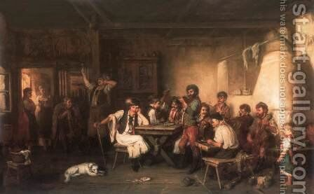 Bachelor Day 1881 by Hermann Kern - Reproduction Oil Painting