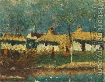 Farm 1920 by Jeno Remsey - Reproduction Oil Painting