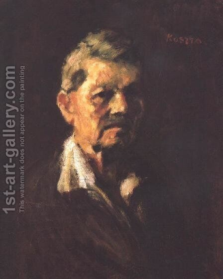 Self-portrait in Old Age 1940 by Jeno Remsey - Reproduction Oil Painting