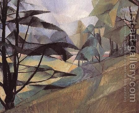 Landscape 1913 by Hugo Scheiber - Reproduction Oil Painting
