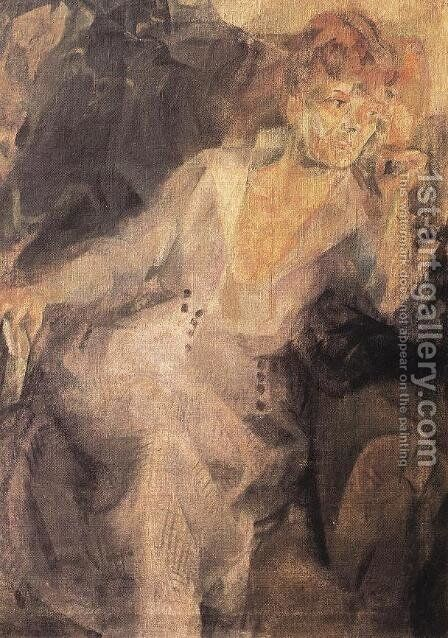 Portrait of the Artist's Sister 1920 by Hugo Scheiber - Reproduction Oil Painting