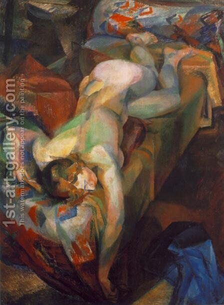 Reclining Nude 1921 by Hugo Scheiber - Reproduction Oil Painting