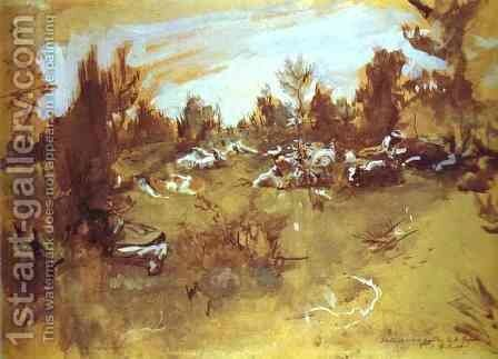 Herd 1890s by Valentin Aleksandrovich Serov - Reproduction Oil Painting