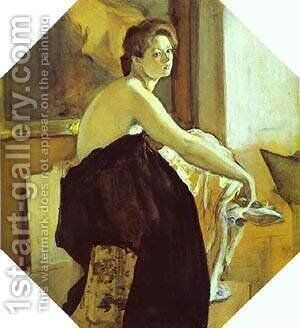 Model 1905 by Valentin Aleksandrovich Serov - Reproduction Oil Painting