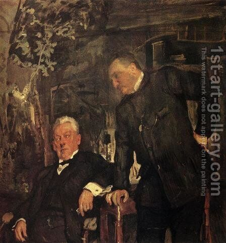 Portrait Of Alexander Lensky And Alexander Yuzhin 1908 by Valentin Aleksandrovich Serov - Reproduction Oil Painting